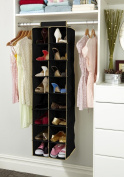 Kennedy Home Collection's Hanging 16 Shelf Organiser- #5168 Black