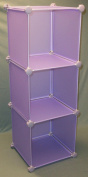 Storage Solutions® 0405PPR6 30cm 3-Cube Poly Storage Cube
