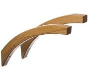 41cm Angled Wood Shelf Brackets - Honey Maple