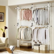 One Touch Double 2 Tier Adjustable Hanger | Clothing Rack | Closet Organiser