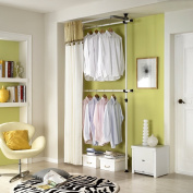 Simple Double Curtain Hanger | Clothing Rack | Closet Organiser