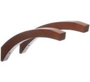 41cm Angled Wood Shelf Brackets Red Mahogany