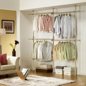 Premium Wood Double 2 Tier Hanger | Clothing Rack | Closet Organiser