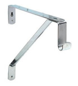 Closet Bracket, steel, chrome-plated, for 15mm, oval