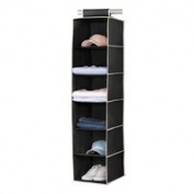 Kennedy Home Collection's Hanging 6 Shelf Sweater Organiser, #5177-Black