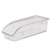Akro-Mils 305A5 Insight Ultra-Clear Plastic Hanging and Stacking Storage Bin, 28cm Long by 10cm Wide by 8.3cm Wide, Case of 12