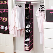 Kennedy Home Collection 10-Shelf Hanging Shoe Organiser