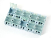 Mini SMD Component Storage Modular Snap Boxes - 10 Blue Boxes