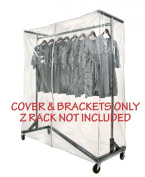 Clear Z Rack Cover with Zipper and Bracket Combo Kit for M10 Series of Standard, Professional or Deluxe 1.5m Wide Z Racks. Z Racks Sold Separately.
