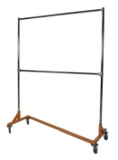 Extended Height Double-Rail Z Rack Garment Rack with Wheels