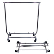 Collapsible Rolling Garment Clothing Rack