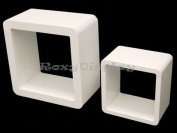 (SC-CUBE24-16WH) 2 White Display Cubes SC-CUBE24WH+SC-CUBE16WH