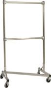 90cm . Heavy Duty Z-Rack Double Rail Garment Rack in Silver
