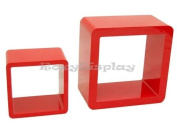 (SC-CUBE24-16RD) 2 Red Display Cubes SC-CUBE24RD+SC-CUBE16RD