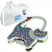 kilofly Purse Hook - Foldable - Mystery Cat, with Gift Pouch