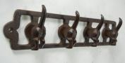 Cast Iron 4 Hook Dog Tail Key Rack