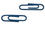 Generic Paper Clips with Vinyl Coated Colour Deep Blue Pack of 200