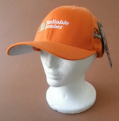 Reliable Lumber Baseball Cap Hat - Orange - One size fits most
