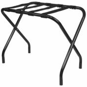 King's Brand Black Metal Folding Luggage Rack With Nylon Belt