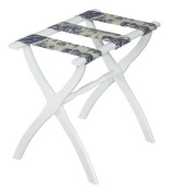 Gate House Furniture Luggage Rack with Toile Straps