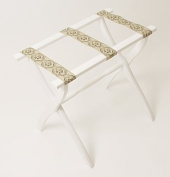 Gate House Furniture Luggage Rack with Tapestry Straps