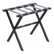Gate House Furniture Item 1015 Black Straight Leg Luggage Rack with 5 Black & Silver Arabia Straps 23 by 33cm by 50cm