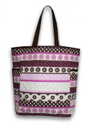 Thro 3987 Delia Stripe Printed Canvas Kids Tote with Side Pockets, 12 by 41cm by 15cm , Multi Pink