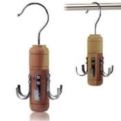 Quality Cedar Wood Belt Organiser - A Quality Belt Holder Hanger With Metal Hooks - Helps Repel Moths