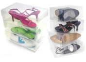 12 Pack Clear Plastic Shoe Storage Transparent Boxes Container for Shoes Closet Organisation