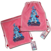 Princess Sling bag with PVC Patch on Mesh Front 27cm X 29cm