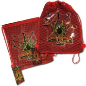 Spider Sling bag with PVC Patch on Mesh Front 27cm X 29cm