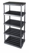 Adjustable 5-Shelf Medium Duty Shelving Unit