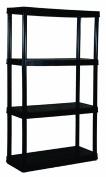 Adjustable 4-Shelf Medium Duty Shelving Unit