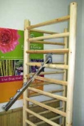 Log Wood Dowel Rack Waterfall Style Attachment, 41cm L
