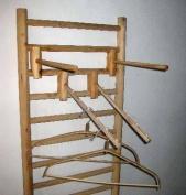 Log Wood Dowel Rack Face Out Style Attachment, 36cm L