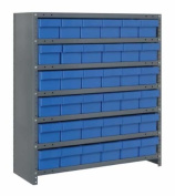 Closed Shelving Storage System with Euro Drawers (100cm H x 90cm W x 30cm D) Bin Colour