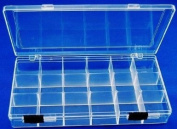 Clear View Storage Case - 20cm x 10cm - 18 Compartment