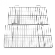 Proslat 13018 30cm x 60cm Ventilated Metal Shelf Designed for PVC Slatwall, 2-Pack