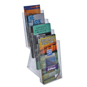 Azar 252306 Four-Tier Tri-Fold Size Brochure Holder for Counter, 2-Pack
