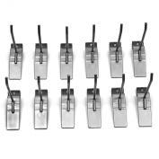 Proslat 13002 10cm Steel Hooks Designed for PVC Slatwall, 12-Pack