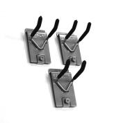 Proslat 13011 Double 10cm Locking Hooks Designed for PVC Slatwall, 3-Pack