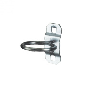 Triton Products 54105 LocHook 2.9cm Single Ring 1.3cm I.D. Zinc Plated Steel Tool Holder for LocBoard, 5-Pack
