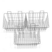 Proslat 13022 38cm x 30cm Ventilated Wire Basket Designed for PVC Slatwall, 3-Pack