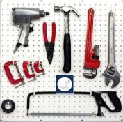 Wallpeg Garage Tool Storage - Pegboard Accessories 50 White L Flex-Lock Peg Hooks -AM-117 W 2