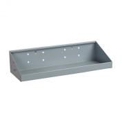 Triton Products 56186 LocHook 46cm Width by 17cm Deep Epoxy Powder Coated Shelf for LocBoard, Grey