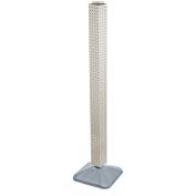 Azar Displays 700225-WHT Standard Interlocking Pegboard Tower, White Solid