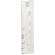 Azar 771360-WHT Pegboard 1-Sided Wall Panel, White Solid Colour, 2-Pack