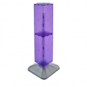 Azar Displays 703387-PUR Standard Four-Sided Interlocking Pegboard Tower, Purple Translucent