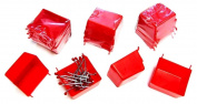 WallPeg Pegboard Hardware - Red Plastic Pegboard Bins 20 ea. # AM 20R-2