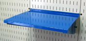 Wall Control Pegboard Shelf 30cm Deep Pegboard Shelf Assembly for Wall Control Pegboard and Slotted Tool Board - Blue